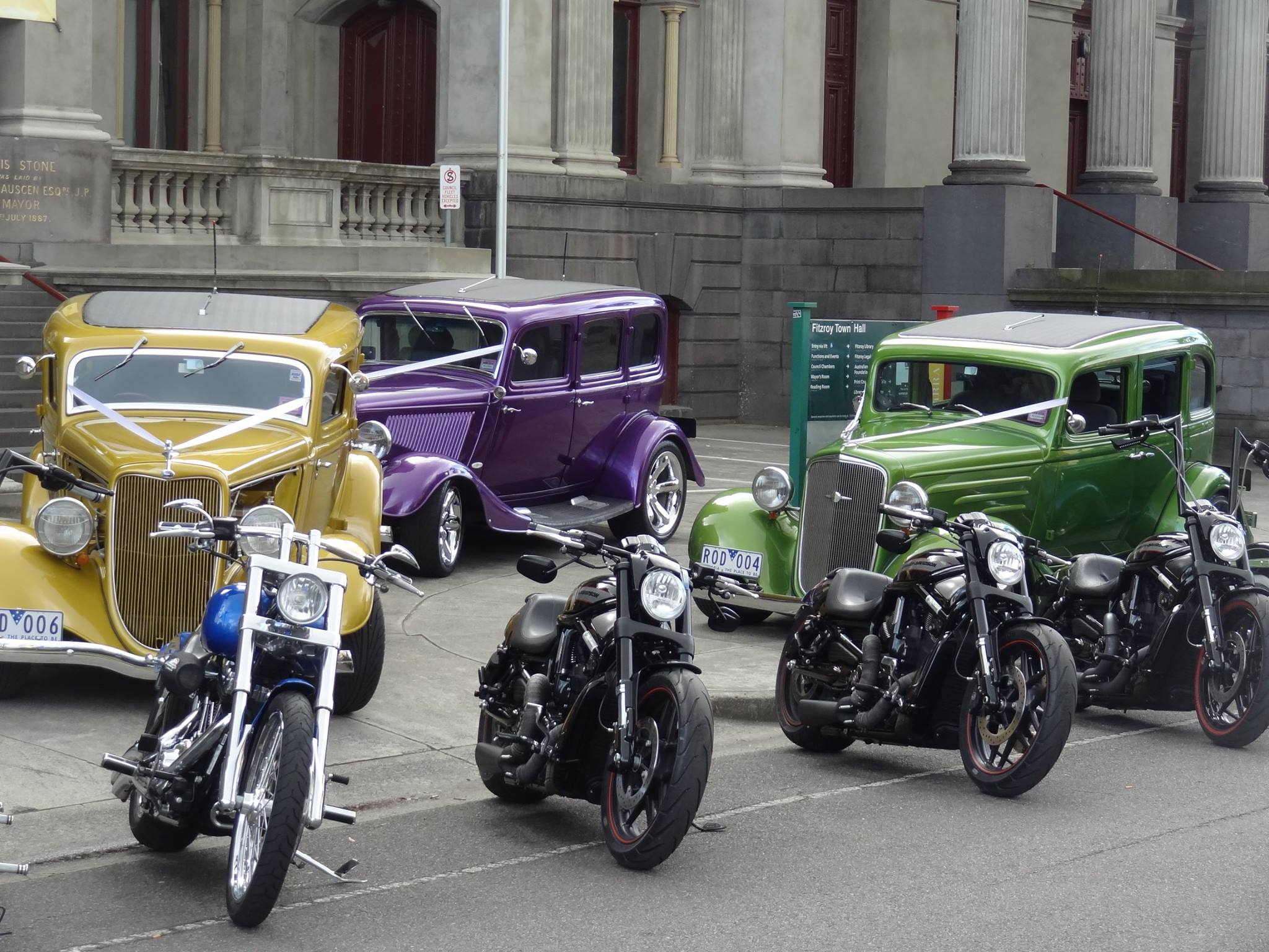 wedding hot rods